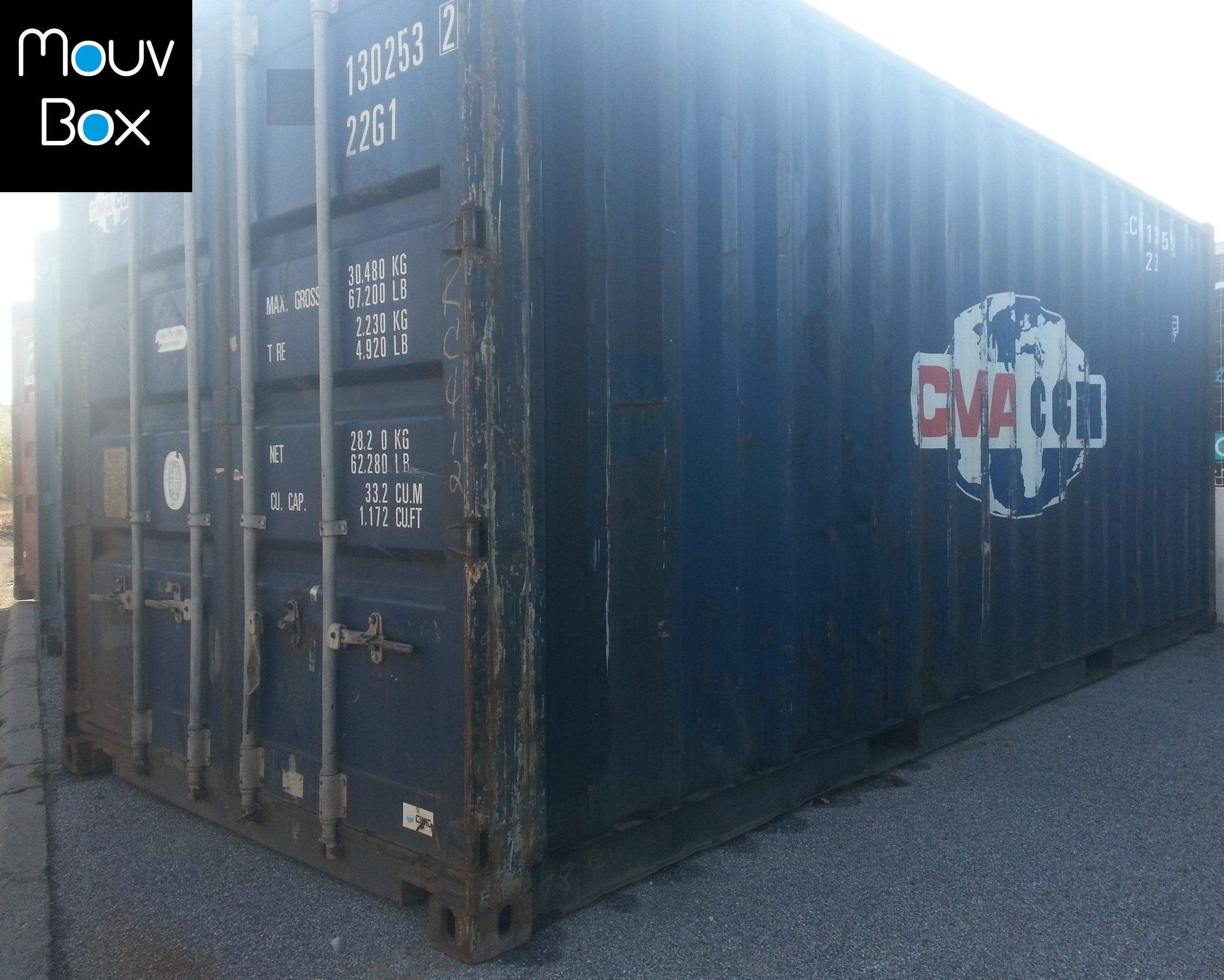 Mouvbox france 20 dry classe b for Achat container d occasion