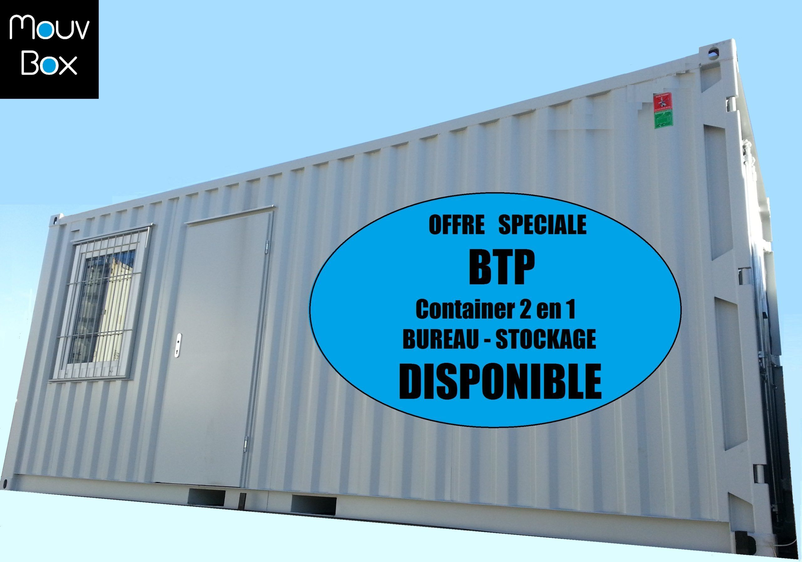 vente-conteneur-container 20' dry-neuf-btp-stockage-bureau-mouvbox