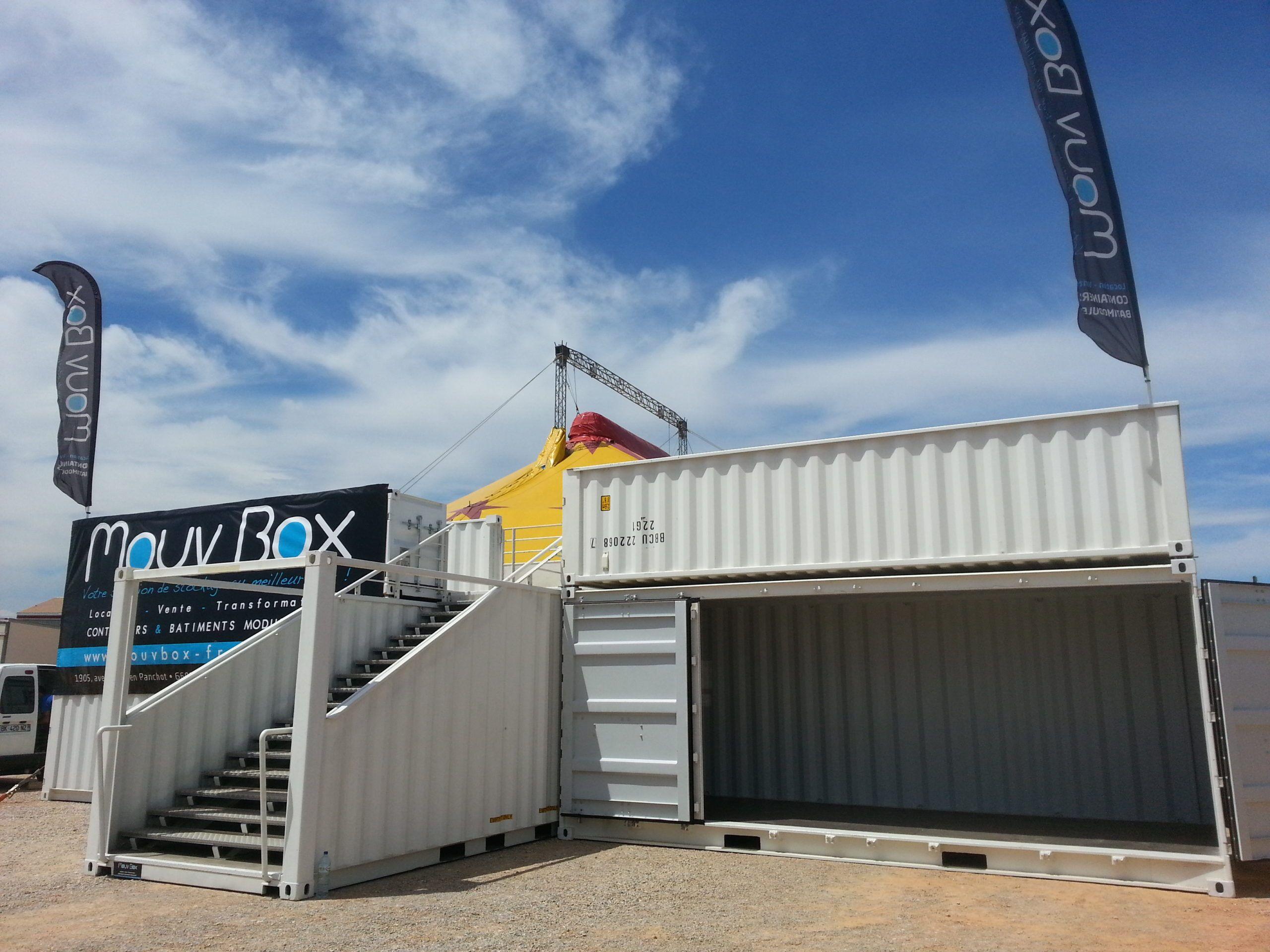Mouvbox france container terrasse box 15m2 for Tarif conteneur maritime