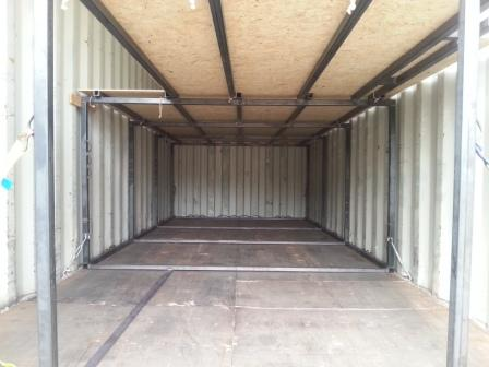 Mouvbox france am nagement int rieur de container 20 39 dry for Interieur container