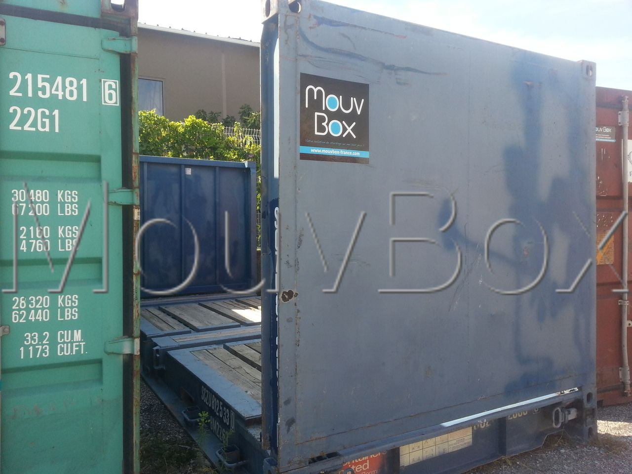 mouvbox france container 20 39 dry flatrack occasion. Black Bedroom Furniture Sets. Home Design Ideas
