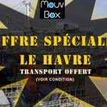 promotion container, promotion transport, offre spéciale container