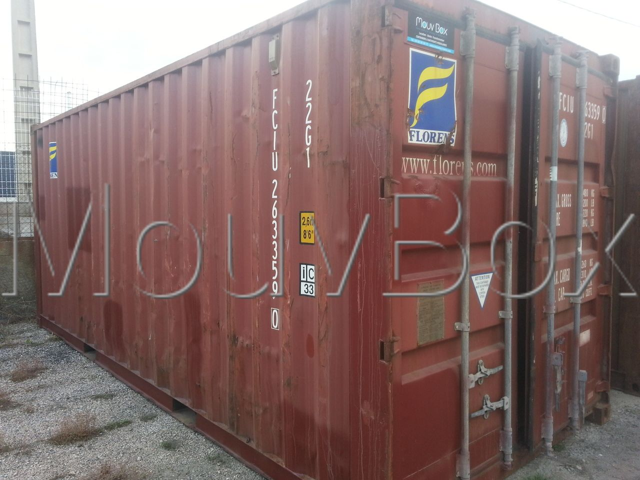 mouvbox france container 20 dry occasion classe b. Black Bedroom Furniture Sets. Home Design Ideas