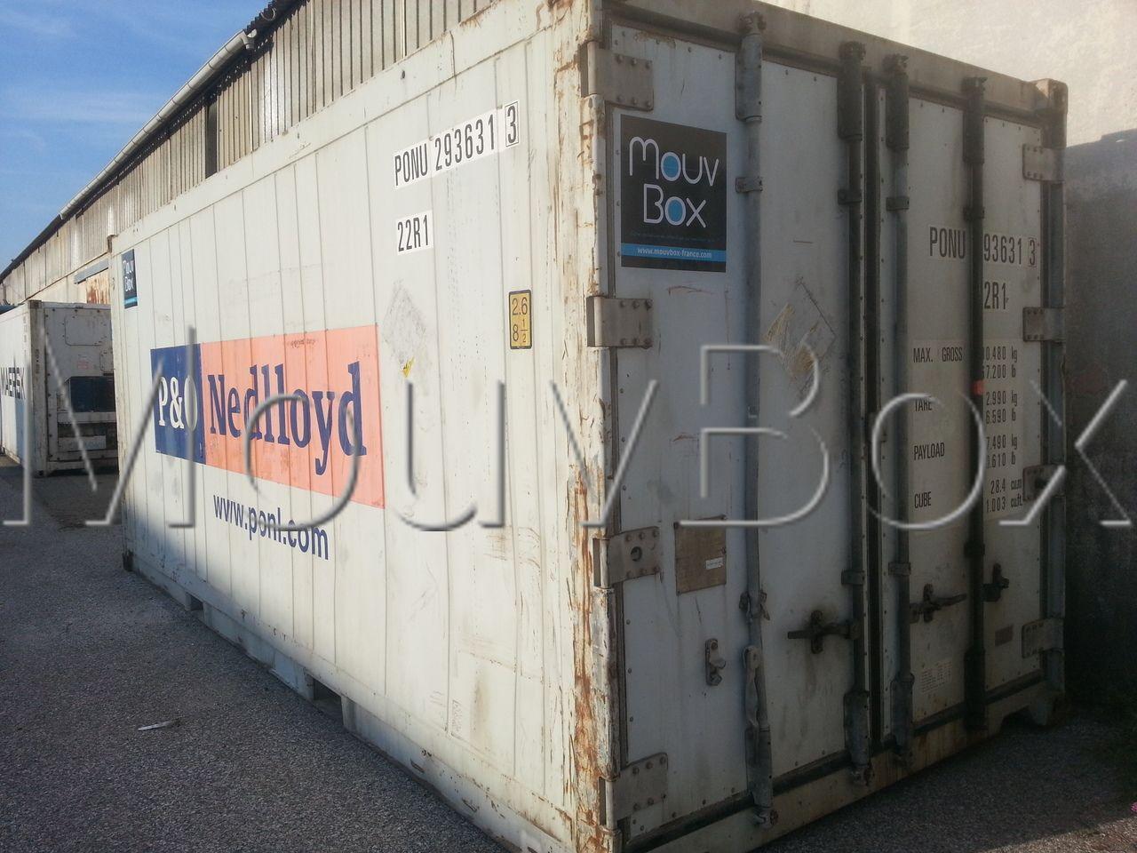 Mouvbox france container reefer frigorifique 20ft c for Tarif conteneur maritime