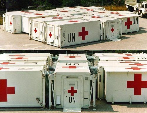 containers hôpitaux de l'armée américaine