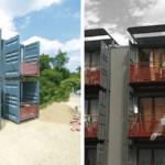 Logement en containers maritimes,