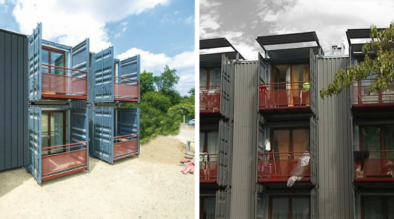 Crise du logement la solution en containers mouvbox france for Cout container
