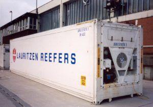 Container frigorifique blanc avec moteur intégré