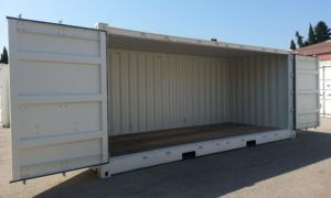 Container open side 20 pieds
