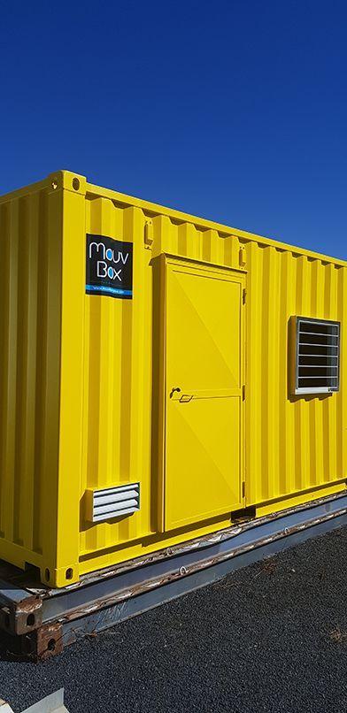 container maritime jaune