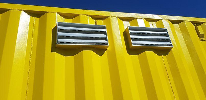 grille aeration conteneur maritime