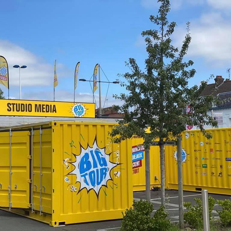 Des containers MOUVBOX pour le Big Tour